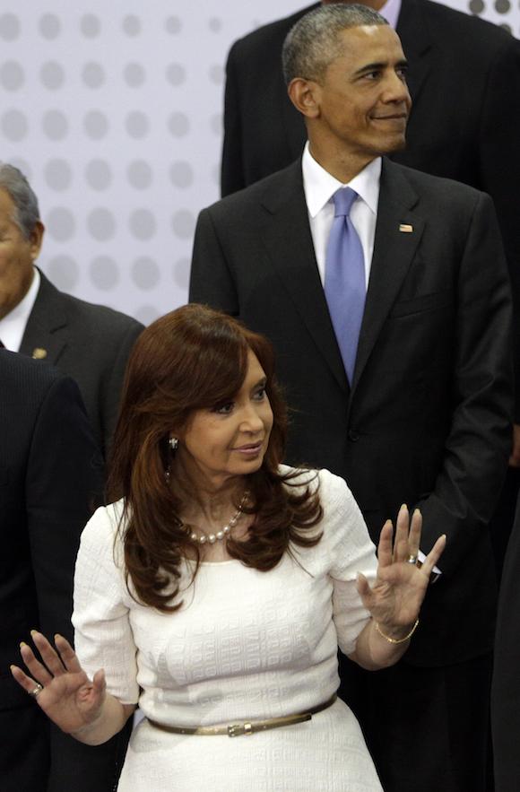 Cristina Fernández de Kirchner en la VII Cumbre de las Américas. Foto: Arnulfo Franco/ AP