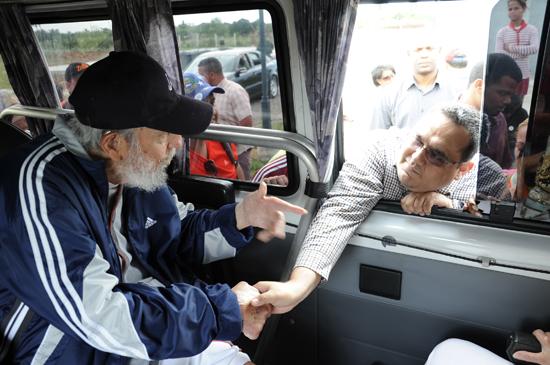 Encuentro de un grupo de venezolanos con el líder histórico de la Revolución. Foto: Estudios Revolución