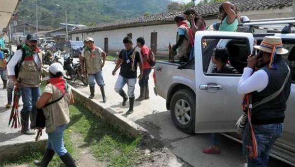Los comuneros indígenas del Cauca dicen vivir en terror por el recrudecimiento del conflicto armado en esa región del suroccidente colombiano. Foto: Vanguardia.
