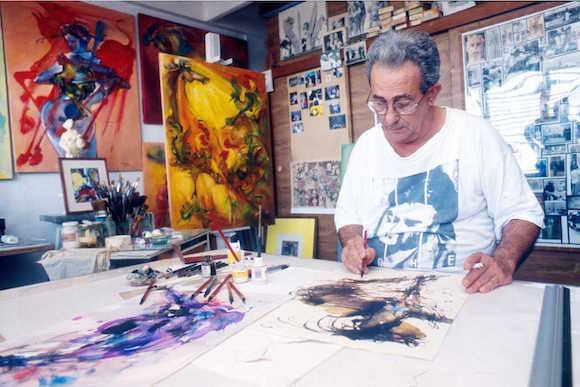 José Delarra en su estudio. Foto: Archivo de la familia