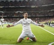 James celebra su gol ante el Málaga.