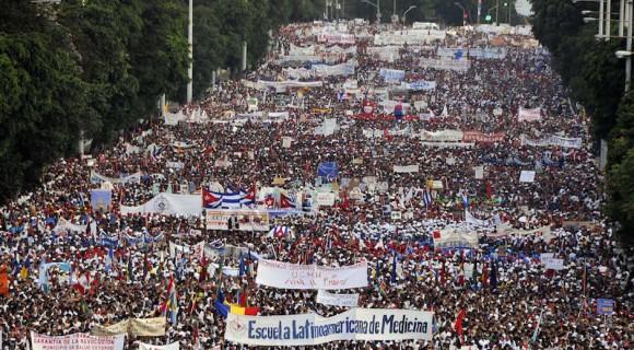 Desfile del Primero de Mayo en La Habana. Foto: Archivo