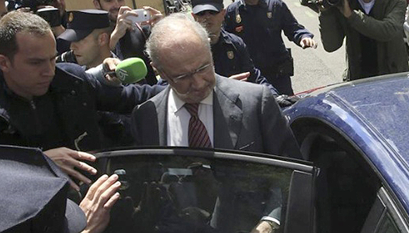 Expresidente del Fondo Monetario Internacional FMI, Rodrigo Rato, investigado por lavado de dinero, delitos de fraude y alzamiento de bienes. Foto: EFE