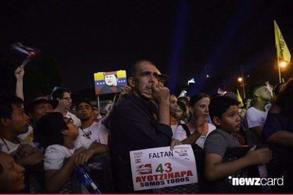 Concierto de Silvio Rodríguez en la Universidad de Panamá, durante la inauguración de la Cumbre de los Pueblos. Foto: AFP