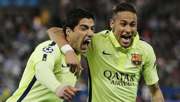 Suárez y Neymar, los goleadores azulgranas de la jornada.