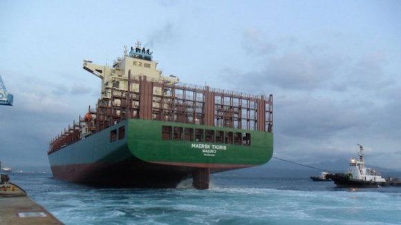 """Al menos cinco buques iraníes forzaron al barco """"Tigris"""", de la firma Maersk, a dirigirse hacia la isla iraní de Larak. Foto: Mauisaaac"""