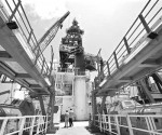 Plataforma de exploración Bicentenario, de Industrial Perforadora Campeche, en el Golfo de México. Imagen de archivoFoto José Carlo González