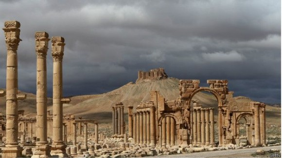 Multitud de turistas visitaban las ruinas de la ciudad antes de estallar la guerra en Siria. Foto: Getty