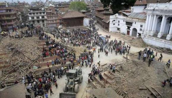 Ya son más de 7 500 los muertos por el terremoto del pasado 25 de abril en Nepal. Foto: AFP.