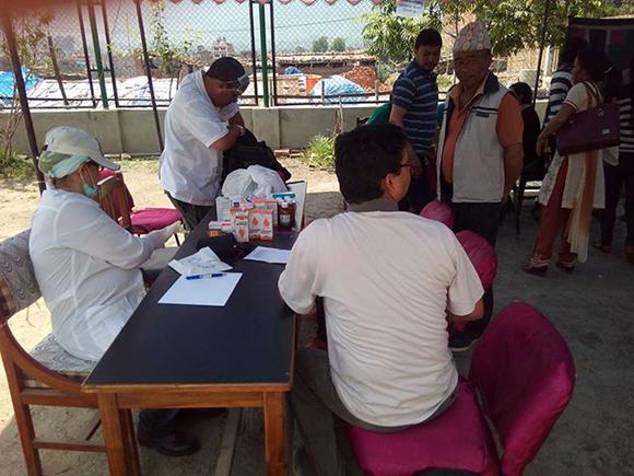 Campamento de solidaridad en Nepal2