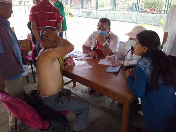 Campamento de solidaridad en Nepal3