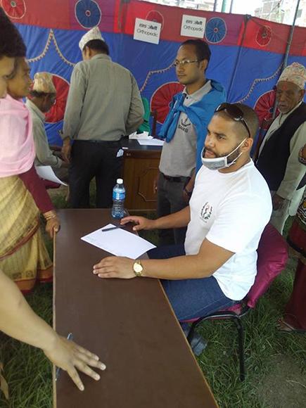 Campamento de solidaridad en Nepal5