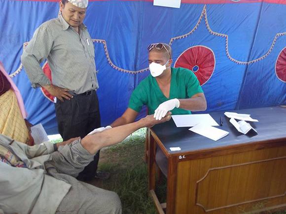 Campamento de solidaridad en Nepal6