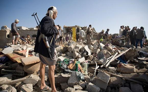 Escena del conflicto entre Arabia Saudita y Yemen.Foto tomada de marxist.com