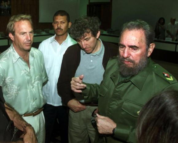 Actor Kevin Costner Meets With Cuban Leader Fidel Castro