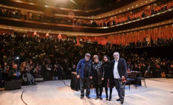 Los presentadores del libro. Foto: Kaloián / Cubadebate