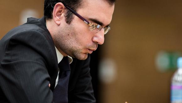 Leinier se enfrenta a Baadur Jobava. Foto tomada del sitio oficial del evento
