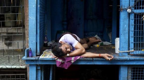 Refugio ante la ola de calor. Foto: Reuters