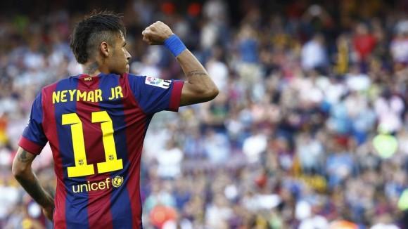 Neymar celebra el 1 a 0. Foto tomada de Twitter
