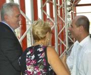 Tomislav Nikolic (I), Presidente de la República de Serbia, arribo a  Cuba en visita oficial, lo recibió Rogelio Sierra (D), viceministro de Relaciones Exteriores de Cuba, en el Aeropuerto Internacional José Martí, en La Habana, el 18 de mayo de 2015. Foto: Marcelino Vázquez Hernández / AIN / Cubadebate