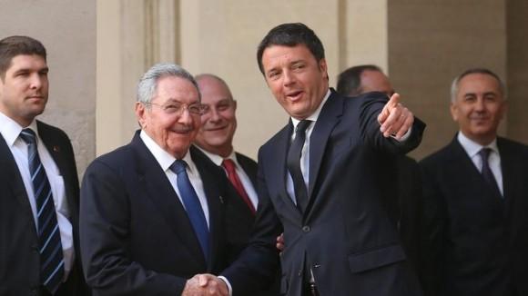 Sostuvo Raúl Castro reunión con premier italiano