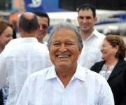 Salvador Sánchez Cerén, presidente de la República del Salvador, después de arribar a Cuba en visita oficial. Foto: Marcelino Vázquez.
