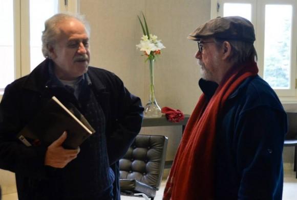 Silvio con Jorge Boccanera. Foto: Kaloián / Cubadebate