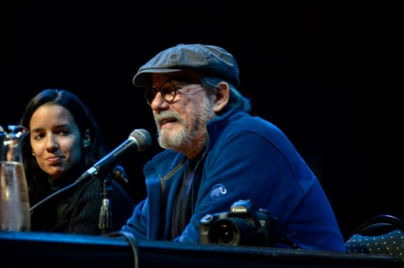 Silvio habla en la presentación del libro. Foto: Kaloian / Cubadebate