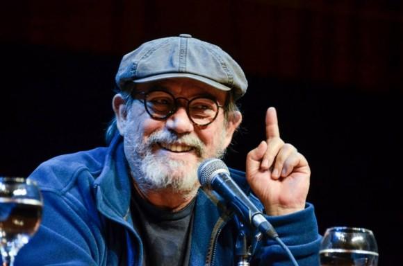 Silvio sonriente en la presentación. Foto: Kaloián / Cubadebate