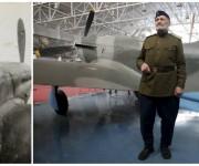 Teniente General Viatly Rybalka de 92 años fue piloto militar soviético y comandante del escuadrón aéreo que sirvió en el primer y segundo frentes en Ucrania. En la foto de la derecha posa delante de un avión soviético Yak-9 en el Museo Central de la Fuerza Aérea en Moscú, Rusia. Foto: Reuters