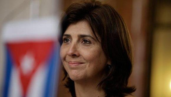 Canciller de Colombia, María Ángela Holguín. Foto: AP.