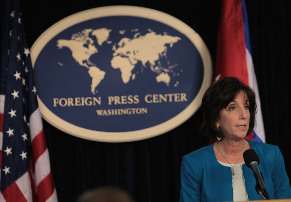 Roberta Jacobson en conferencia de prensa en Washington. Foto: Ismael Francisco/ Cubadebate