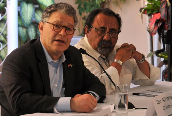 Tom Udall, Senador por Nuevo México, Alan Stuart Franken, Senador por Minnesota. Foto: Ladyrene Pérez/ Cubadebate.
