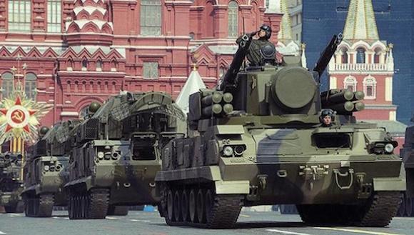 Ensayos en la Plaza Roja, de Moscú. Foto: Telesur