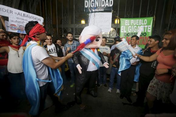 Protestas en Guatemala contra la corrupción. Foto: Reuters