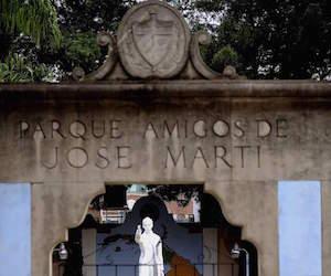 Parque José Martí en Tampa.