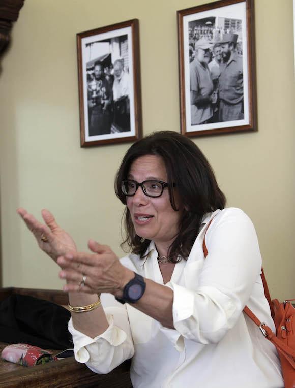 Julia Sweig, experta en estudios latinoamericanos y ex integrante del influyente Consejo de Relaciones Exteriores (Council on Foreign Relations). Foto: Ismael Francisco/ Cubadebate