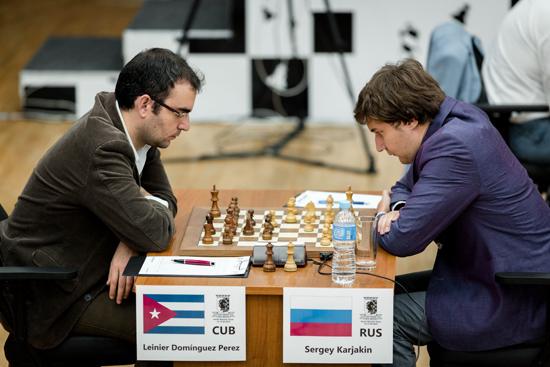 Leinier Domínguez y Karjakin Sergey. Foto: FIDE.