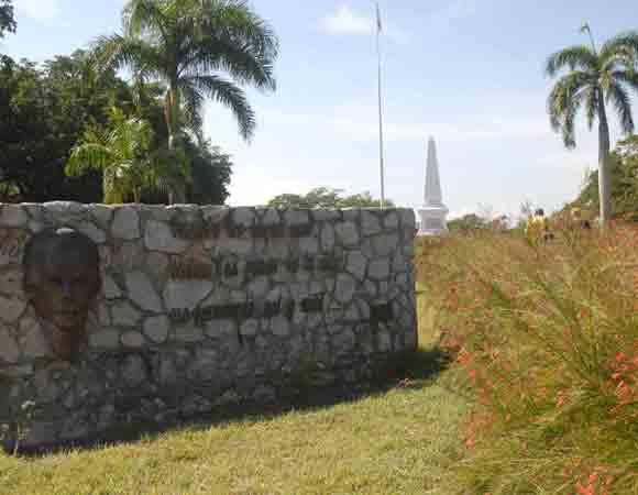 Vista del Monumento en Dos Ríos, al nordeste del municipio Jiguaní, sitio donde cae en combate, un 19 de mayo de 1895, el maestro, poeta y revolucionario cubano José Martí,  en Granma.  Foto: Oscar Alfonso Sosa / AIN:
