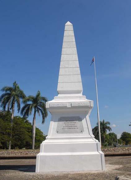 Monumento en Dos Ríos, al nordeste del municipio Jiguaní, sitio donde cae en combate, un 19 de mayo de 1895, el maestro, poeta y revolucionario cubano José Martí,  en Granma. Foto: Oscar Alfonso Sosa / AIN.