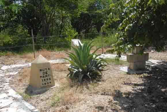 En este sitio estuvo el conocido como Campamento 26, de donde José Martí partió hacia Vuelta Grande, precisamente el sitio desde donde cabalgó hacia el combate de Dos Ríos.  Foto: Oscar Alfonso Sosa / AIN.