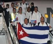 MATANZAS-ARRIBAN A CUBA COLABORADORES CUBANOS QUE COMBATIERON LA