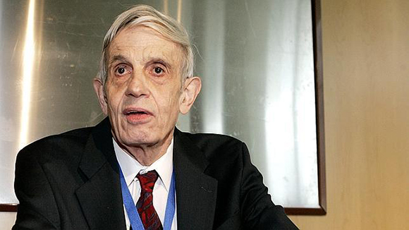 John Nash en una conferencia en Madrid. Foto: ABC
