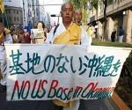 okinawa + protestas + base militar