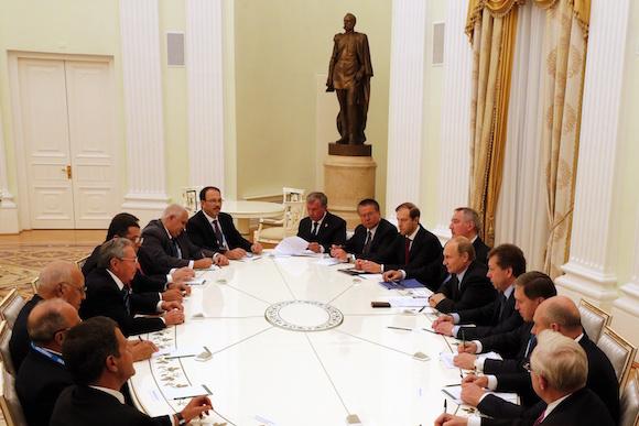 El encuentro oficial en el Kremlin. Foto: Anatoly Maltsev/Pool via AP