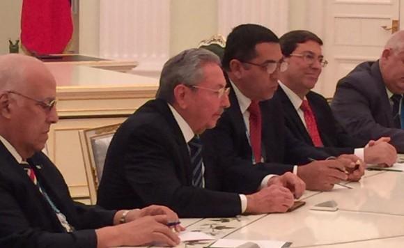La delegación oficial cubana. Foto: @dimsmirnov175/ Twitter