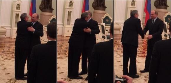 El abrazo entre ambos mandatarios. Foto: @dimsmirnov175/ Twitter