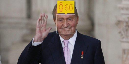 El rey Juan Carlos tiene 77 años.