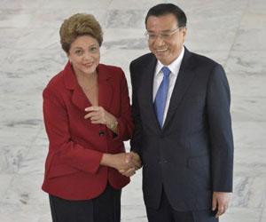 Rousseff y Li este martes en el palacio presidencial en Brasilia. Foto: Cadu Gomes / AP.