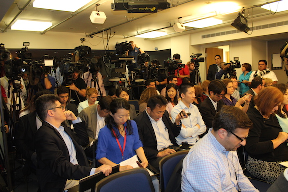 En la sala de prensa del Departamento de Estado, en el edificio del Club Nacional de Prensa de Washington. Foto: Jorge Legañoa/ AIN
